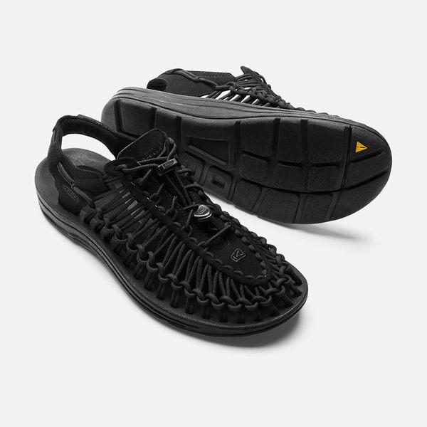 美國KEEN Uneek 男款專業戶外護趾編織涼鞋 1014097 黑色 水陸兩用鞋 運動涼鞋 OUTDOOR NICE