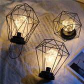 北歐風INS極簡銅絲燈房間臥室少女心背景燈臺式小夜燈裝飾電池燈【非凡】