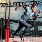 預購 免運 TWS 真 無線藍牙耳機 藍芽5.0 耳塞式 舒適 防水耳機 運動耳機 藍牙耳機 自動配對 充電盒