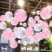 聖誕節店鋪裝飾透明塑料球空心吊球珠寶店布置天花板吊頂創意掛飾 聖誕狂歡節