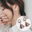 立體三角水鑽耳環 耳針 MISJ4314