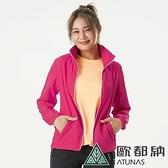 【南紡購物中心】【歐都納】女款精彩隨行防曬輕量連帽風衣外套(A2GA2002W 紫紅)