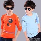 男童純棉長袖t恤薄款兒童春秋打底衫男孩中大童秋衣上衣