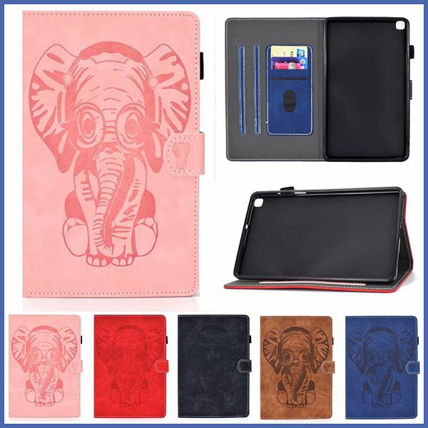 大象壓紋平板套 三星 Tab A 8.0 2019 T290 T295 平板皮套 支架 插卡 平板套