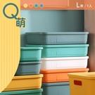 整理盒/置物盒/塑膠盒 Q萌撞色系附蓋收納盒 L號 四色可選 dayneeds