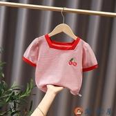 女童短袖夏季寶寶夏裝兒童T恤上衣女夏可愛【淘夢屋】