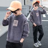 兒童裝男童毛衣套頭兒童2019新款秋冬款男孩針織衫潮韓版洋氣加厚