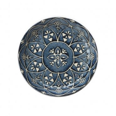 日本摩洛哥風盤14cm 藍