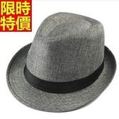 小禮帽-夏日百搭正韓時尚亞麻男爵士帽11色67e22【巴黎精品】