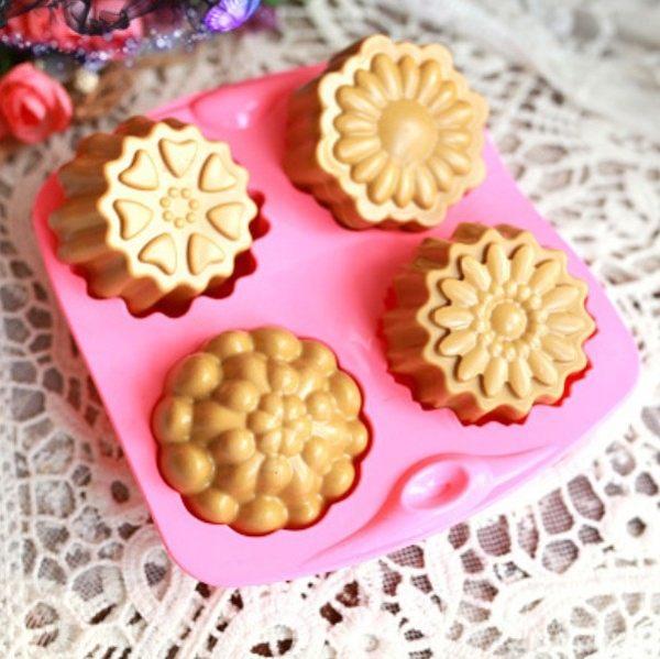 月餅模  四孔花冰皮月餅模  皂模  皂模   蛋糕模  想購了超級小物