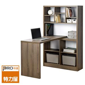 特力屋 歐登書櫃型複合式書桌 採E1板材
