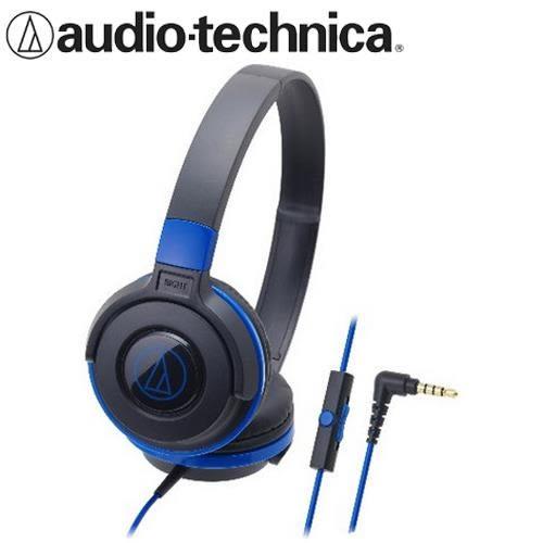 【公司貨-非平輸】鐵三角 ATH-S100iS 可摺疊耳罩耳機 黑藍