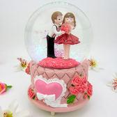 水晶球音樂盒女生日友情帶飄雪花可發光旋轉天空之城情人結婚禮物【販衣小築】