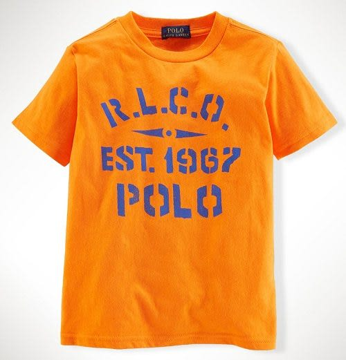 Ralph Lauren Polo短袖上衣 Polo 1967圖案橘色設計款短袖T恤 3號 (Final sale)