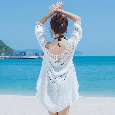 天天特價夏海邊度假比基尼罩衫鏤空泳衣外套沙灘防曬衣女TBF-10B快時尚