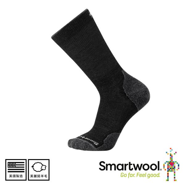 【SmartWool 美國 男  Phd戶外輕量減震中長襪 《炭黑色》】SW001069/排汗襪/戶外襪/機能襪/健行