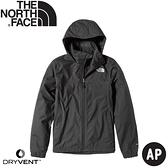 【The North Face 女 DryVent 防水外套《黑》】49F8/衝鋒衣/防風外套/防水夾克