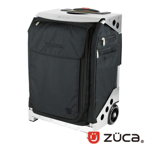 ZUCA Flyer Travel 商務行李箱 登機箱 ZFT-498 (收納/拉桿/可坐式/可爬樓梯)/黑布/銀框
