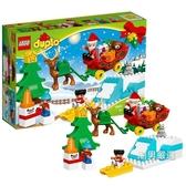 積木得寶系列10837聖誕老人的寒假DUPLO積木玩具xw
