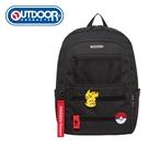 【橘子包包館】OUTDOOR Pokemon聯名款訓練家系列15.6吋筆電後背包-大-黑色 ODGO20C01BK 後背包