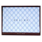 CELINE經典mini BLASON LOGO毛毯禮盒(粉藍)084104-1