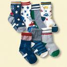 [韓風童品] (7雙/組)秋冬新款 汽車 星星 條紋防滑點膠襪 兒童防滑襪 兒童襪子襪子 男童襪