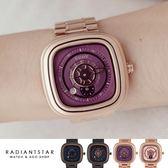 韓國GUOU愛的軌跡公轉自轉小秒單眼金屬鍊帶手錶對錶單支【WGU8150】璀璨之星☆