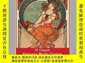二手書博民逛書店15罕見Classic Alphonse Mucha PostersY28384 Enchanted Desi