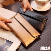 長款真皮錢包女2019新款簡約歐美超薄卡位錢夾多功能皮夾女士錢夾