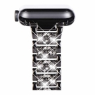 NewWays 水鑽錶帶 38/40mm 316L不銹鋼 適用Apple Watch Series 6 SE Series 4 Series 5 黑/玫瑰金/銀 [9美國直購]