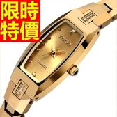 鑽錶-有型俏麗閃耀鑲鑽女腕錶3色62g3【時尚巴黎】