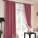 簡約現代成品全遮光窗簾客廳臥室陽臺落地窗北歐遮陽隔熱飄窗布料