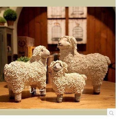 【阿爾卑斯】小羊綿羊歐美法式鄉村擺件3個組-MS6452