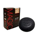 韓國 Skin Magic 紅蔘奇蹟黑頭粉刺滅除竹炭皂(100g)【小三美日】洗臉皂
