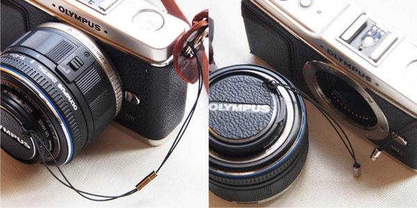 (BEAGLE) 真皮相機專用鏡頭蓋防丟蒙皮貼  SONY ALC-F62S鏡頭蓋防丟繩-NEX/A系列鏡頭蓋專用