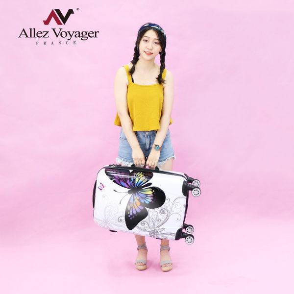 行李箱 旅行箱 24吋 飛機輪PC 法國奧莉薇閣 彩蝶飛舞II系列