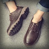 春季新款男士復古大頭工裝鞋低幫韓版英倫百搭增高休閒皮鞋潮 有緣生活館