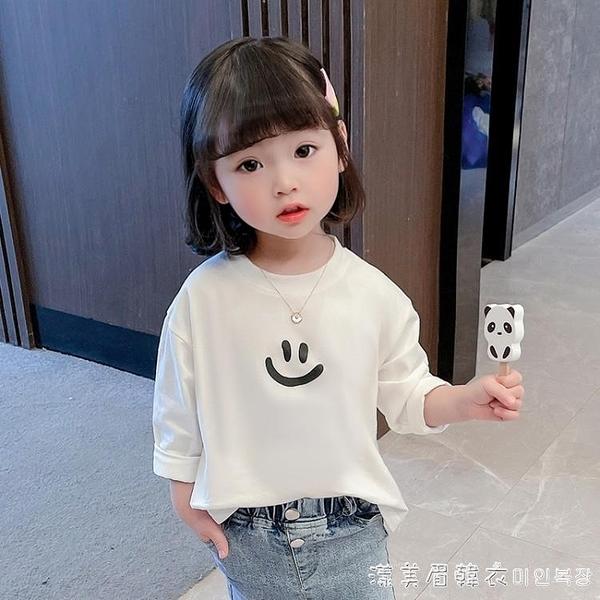 女童打底衫春裝1女寶寶長袖2嬰兒小童洋氣上衣3外穿4兒童春秋T恤6 美眉新品