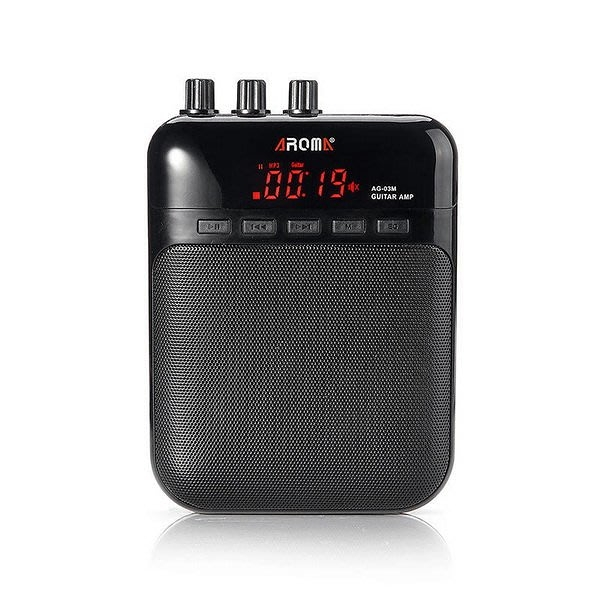 唐尼樂器︵ Aroma AG-03M 腰掛式/桌上型兩用電吉他音箱/迷你隨身小音箱 (5W功率/內建破音效果)