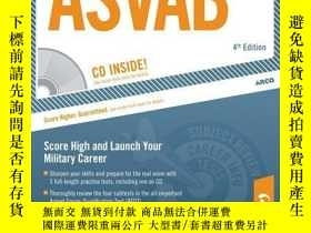 二手書博民逛書店Master罕見the ASVAB w  CD, 4E: Armed Services Vocational Ap