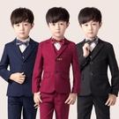 兒童西裝套裝三件套男童韓版春秋小西服外套鋼琴演出服花童禮服男 快速出貨