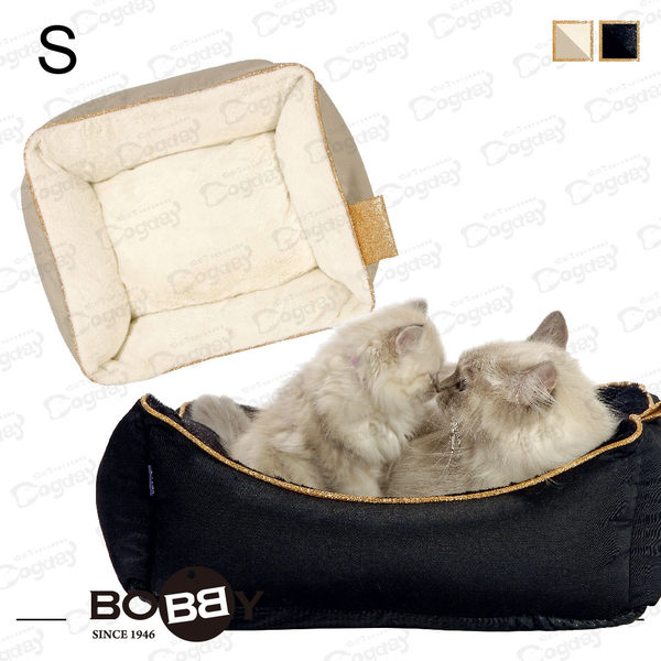 法國名床《BOBBY》霧金宮廷睡窩 S號皇室風範 貴氣逼人 金/黑金 大貓布偶貓 挪威森林貓緬因貓 貓窩