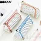 韓國大容量帆布筆袋簡約女可愛多功能網紅少女文具盒筆盒高中生鉛筆袋 小時光生活館