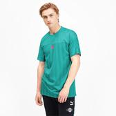 PUMA luXTG 男裝 短袖 休閒 復古 緞面提花 1948 藍綠【運動世界】59574935