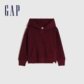 Gap男幼童 活力亮色連帽休閒上衣 661675-暗紅色