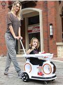 可坐電動車兒童室內外電動汽車可坐人1~3歲寶寶早教瓦力車遙控摩托車帶搖擺jy1件免運下殺75折