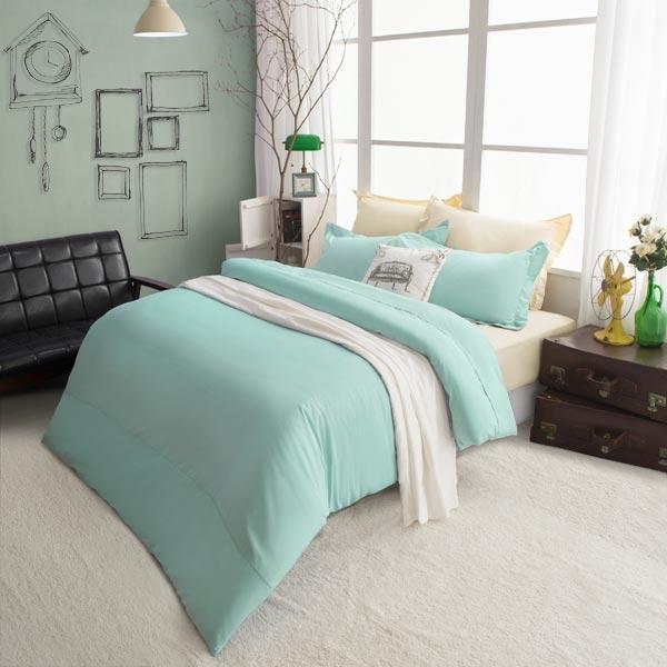 絲光精梳棉 雙人4件組(床包+被套+枕套) 純粹系列-蒂芬妮 BUNNY LIFE