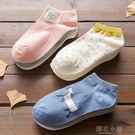 5雙 襪子女士短襪季薄款隱形船襪淺口韓國可愛中筒襪女學院風日系@4『櫻花小屋』