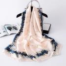 絲巾女百搭紗巾春秋冬季送禮媽媽款薄圍巾搭配大衣三八婦女節禮物一米
