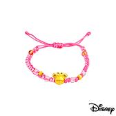 Disney迪士尼金飾 雀躍美妮 黃金編織手鍊之三
